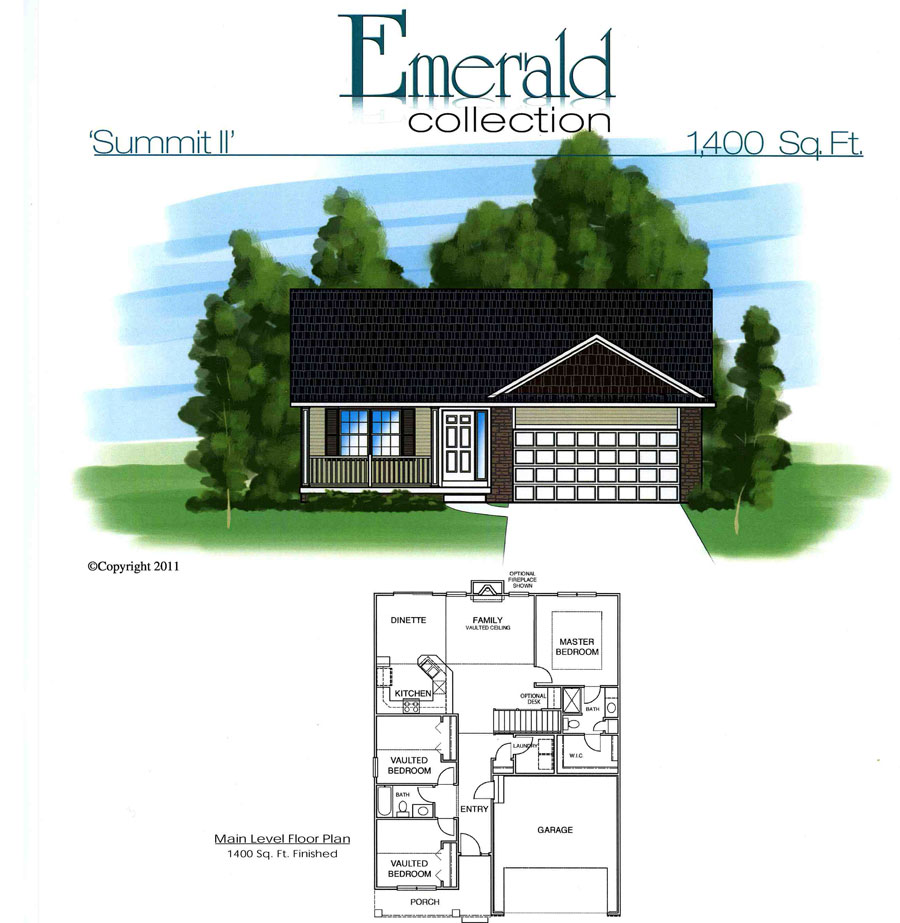Summit ii floor plan homes by fleetwood for Summit homes floor plans